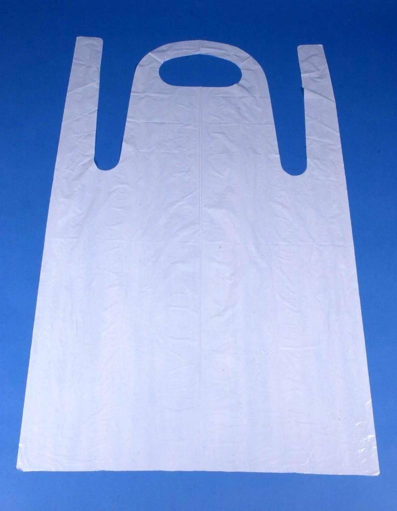 White disposable apron - Disposable Aprons